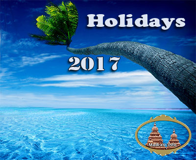 Tamil Nadu Government Holiday List 2017
