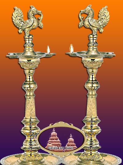 Sharada Navarathri - Ornamental Brass Lamps